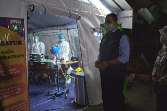 Anies sebut tenda darurat pasien COVID sudah dipasang pada 22 RS