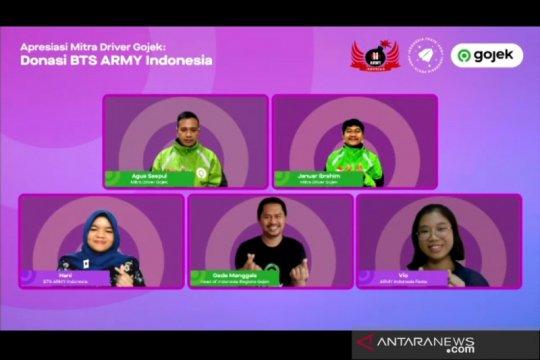 BTS ARMY Indonesia serahkan Rp159 juta untuk driver Gojek