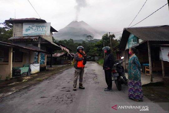 Sejumlah wilayah Sleman dilanda hujan abu guguran awan panas Merapi