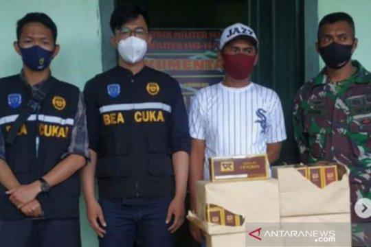 Bea Cukai Kendari menggagalkan peredaran rokok ilegal