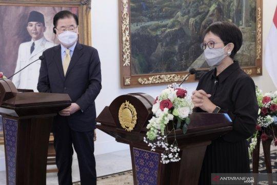 Pertemuan bilateral Menlu Indonesia- Korsel