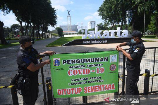Taman-taman kota di Jakarta kembali ditutup