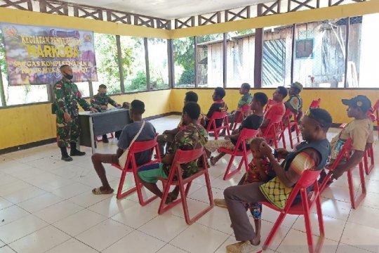 Satgas TNI sosialisasi pencegahan narkoba di perbatasan RI-PNG