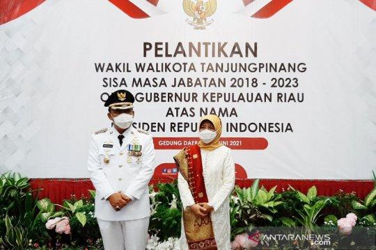 Endang Abdullah resmi dilantik sebagai Wakil Wali Kota Tanjungpinang