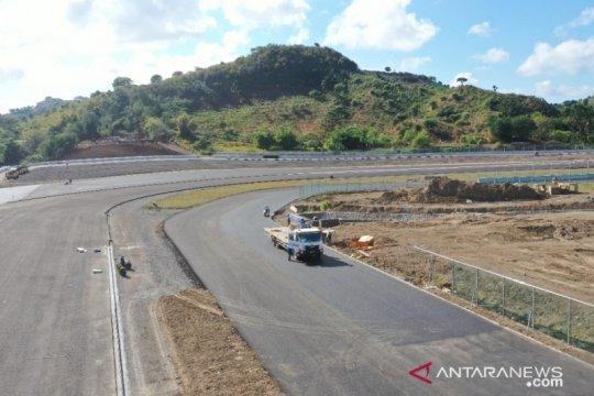Konstruksi lintasan sirkuit MotoGP Mandalika capai 78,6 persen