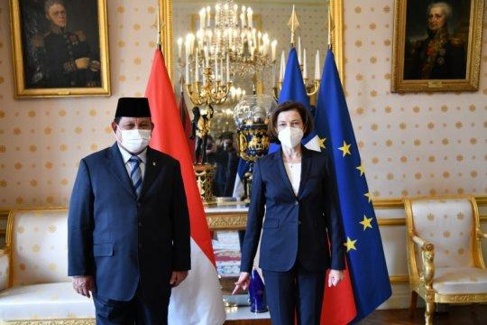 Prabowo tandatangani kerja sama pertahanan RI dan Prancis