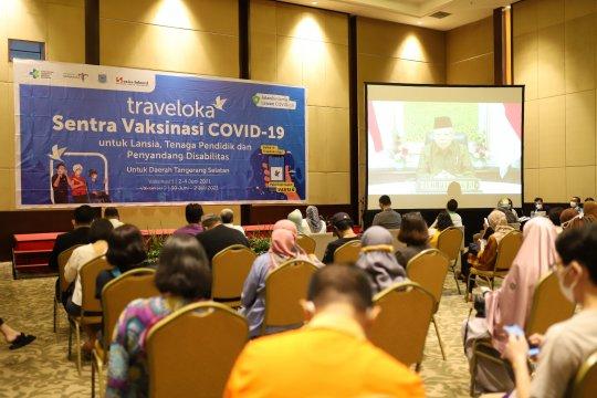 Traveloka gelar vaksinasi COVID-19 dosis kedua di Tangsel