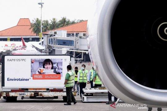 Indonesia terima kedatangan 14 juta bahan baku vaksin Sinovac