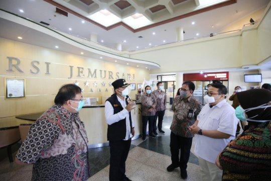 Keterisian tempat tidur RS rujukan COVID-19 di Surabaya makin penuh