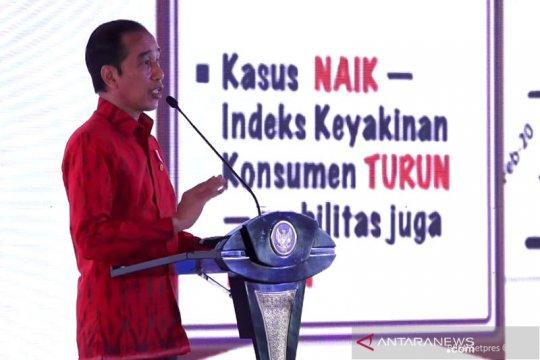 Di Munas Kadin, Presiden Jokowi tegaskan PPKM Darurat harus dilakukan