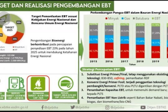 Sektor EBT ditargetkan capai 31% di tahun 2050