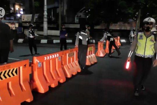 Waspada COVID-19, akses menuju Simpang Lima Semarang ditutup