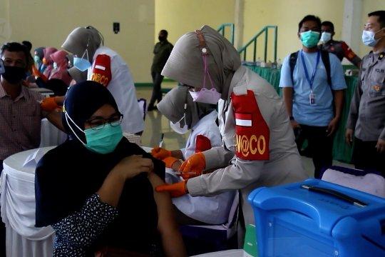 Wujud dukungan Polri untuk pencapaian target vaksinasi