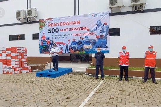 PMI Pusat serahkan 500 unit alat penyemprotan bagi warga Jakarta