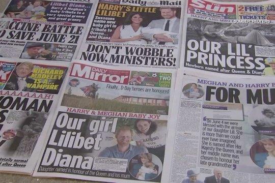 Surat kabar Inggris rayakan kelahiran bayi perempuan Harry dan Meghan