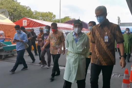 RSUD Moewardi Solo jelaskan kondisinya ke Ganjar Pranowo