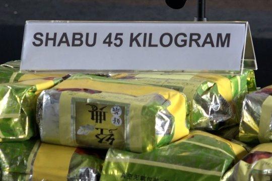 Bareskrim Polri gagalkan penyelundupan 45 kg sabu jaringan internasional