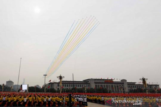 Lapangan Tiananmen jadi saksi peringatan 100 tahun Partai Komunis di China