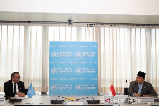 Menhan Prabowo dan Dirjen WHO bahas penanganan pandemi COVID-19