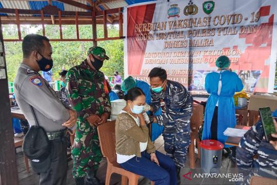 TNI gelar vaksinasi COVID-19 di perbatasan RI-Malaysia