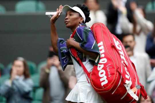 Venus ikuti Serena tersingkir dari Wimbledon