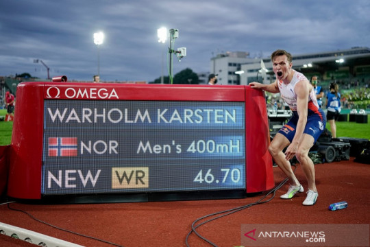 Karsten Warholm patahkan rekor dunia lari gawang 400 meter