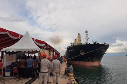 Menko Perekonomian lepas ekspor perdana alumina di Kabupaten Bintan