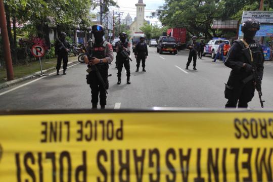 Densus 88 pindahkan 58 tersangka teroris dari Sulsel ke Jakarta
