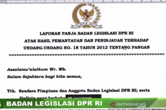 DPR diminta desak Presiden bentuk lembaga pangan demi penuhi UU