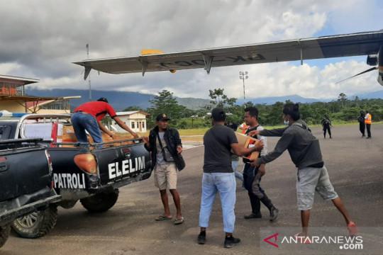 Kemensos salurkan bantuan logistik ke pengungsi Yalimo