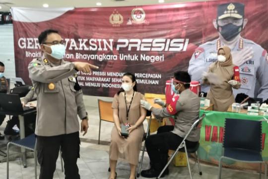 Polda Lampung gelar vaksinasi COVID-19 tahap kedua
