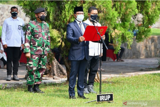 Menkominfo pimpin Upacara Apel Persada Pertiwi pemakaman Harmoko