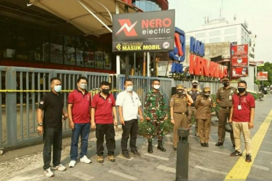 """Bubarkan massa di Plaza Kenari, polisi kerahkan """"watercannon"""""""