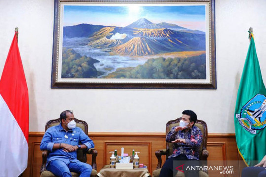 Wagub Jatim berdiskusi dengan Wamenkumham bahas HAKI