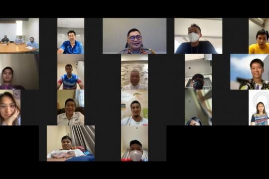 Pelepasan tim bulu tangkis Olimpiade Tokyo digelar secara daring