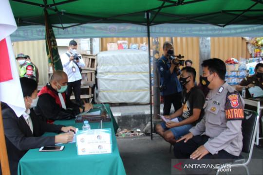 Puluhan pelanggar PPKM Darurat jalani sidang di PN Kota Sukabumi