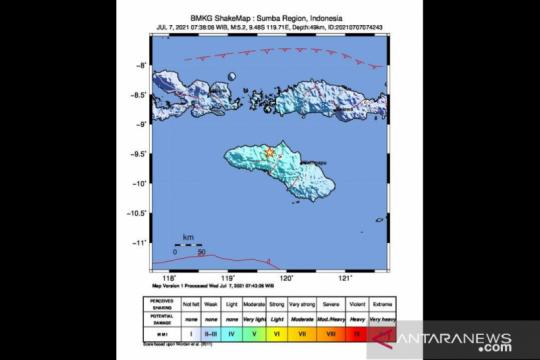 Gempa di Sumba Tengah akibat aktivitas subduksi Lempeng Indo-Australia