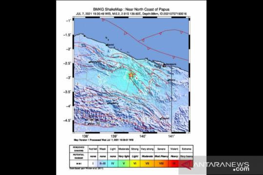 Gempa magnitudo 4,3 terjadi di Jayapura Papua