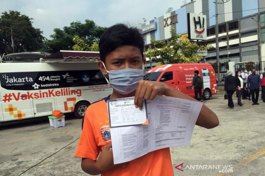 Mobil vaksinasi keliling DKI juga melayani anak-anak