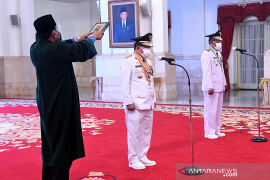 Presiden lantik Gubernur-Wakil Gubernur Jambi 2021-2024