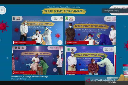 Empat wilayah di Indonesia dapat vaksin Gotong Royong dari Nestle