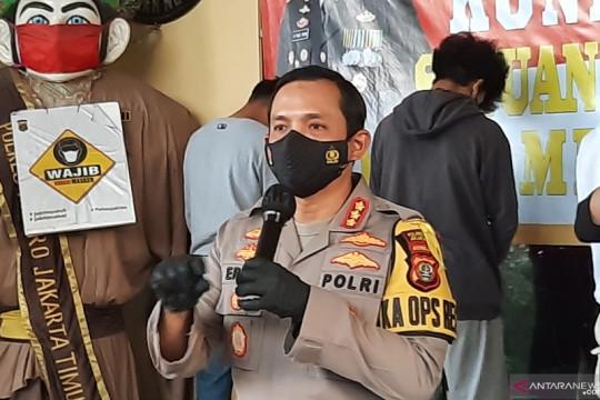 Polrestro Jakarta Timur tangkap lima pemuda hendak balap liar