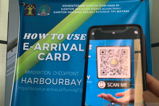 "Imigrasi Batam uji coba ""e-arrival card"""