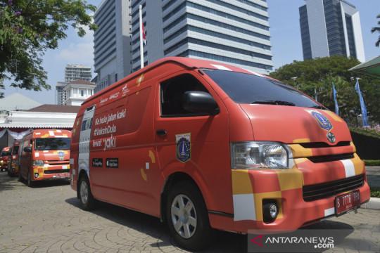 Jakarta kemarin, gudang Dinkes DKI terbakar hingga tabung oksigen