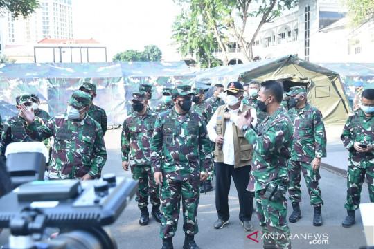 Panglima TNI sidak rumah sakit lapangan TNI AD di RSPAD Gatot Soebroto
