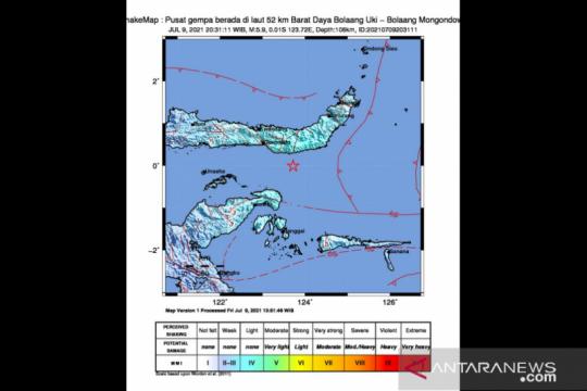 BNPB imbau Bolaang Mongondow waspada dan siaga dampak gempa