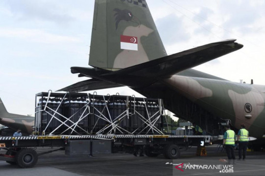 Singapura kirim bantuan penanganan COVID-19 untuk Indonesia