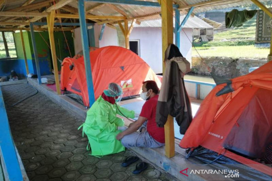 Pasien COVID-19 jalani isolasi di tempat wisata alam Tubing Garut