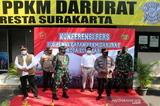 Panglima TNI dan Kapolri tinjau pos penyekatan PPKM Darurat di Solo