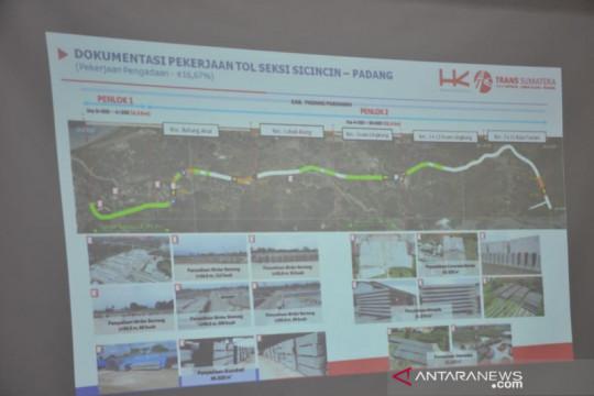 Pembebasan lahan tol Padang-Pekanbaru ditargetkan tuntas Desember 2021